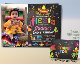 Fiesta Birthday Invitation, Cinco De Mayo Invitation, Fiesta Party Chalkboard Invitation, Mexican Fiesta Invitation