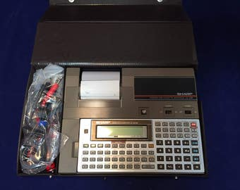 1985 Vintage Sharp CE-129P and EL- 5500II Scientific Computer Calculator Thermal Printer & Cassette Interface, Pocket Calculator EL-5500II