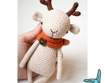 Reindeer - amigurumi crochet toy.