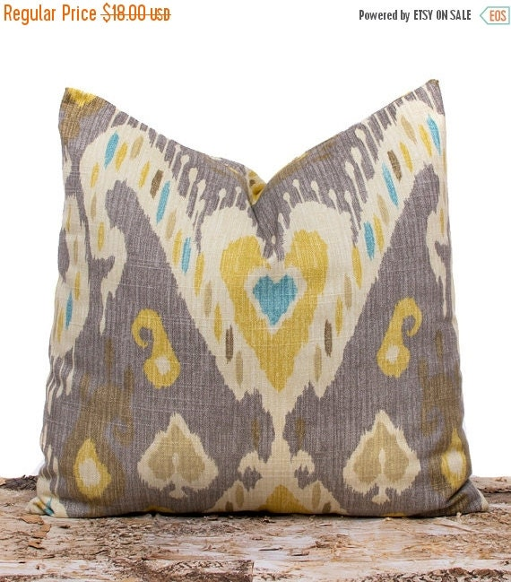 Handmade Ikat Throw Pillows : SALE ENDS SOON Handmade Ikat Pillow Case Taupe Pillow Custom