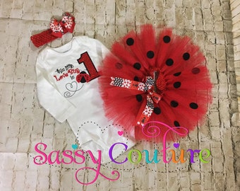 Ladybug birthday outfit, Lady bug birthday tutu, 1st Birthday outfit, Lady Bug birthday onesie, Lady bug birthday shirt