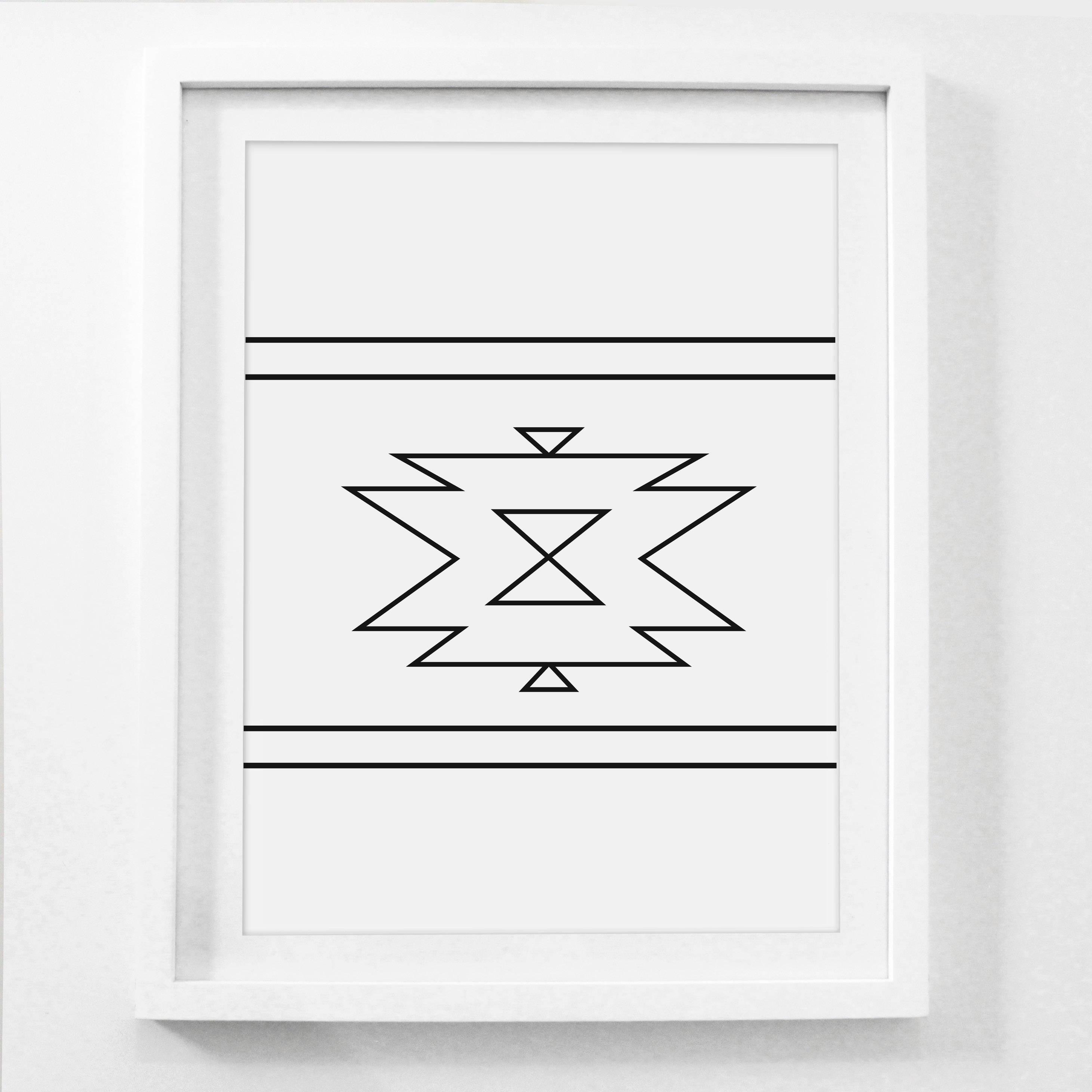 Navajo Print Aztec Home Decor Native American Art