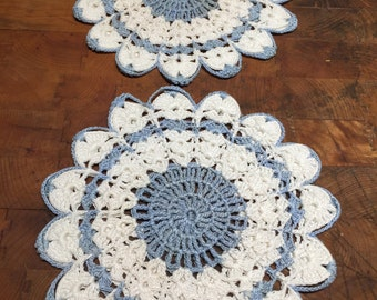 Pair of Vintage Hand Crocheted Pot Holders