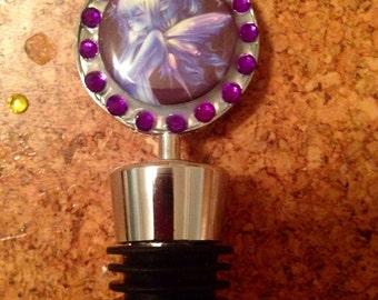 Purple fairy bottle stopper