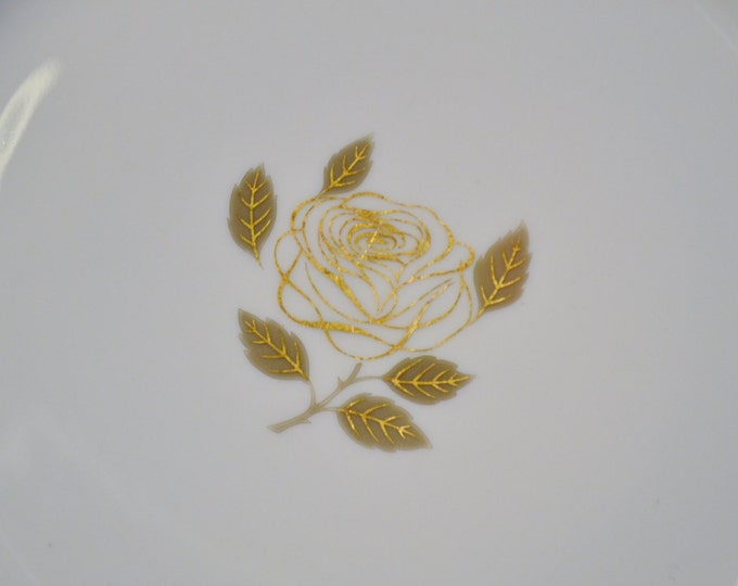 Vintage Rosenthal Rosenthal Rose Salad Plate Gold Rose Design Germany Replacement Panchosporch