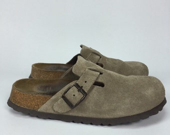 90's Birkenstock Minimalist Clogs Suede Leather Sandals Size 38