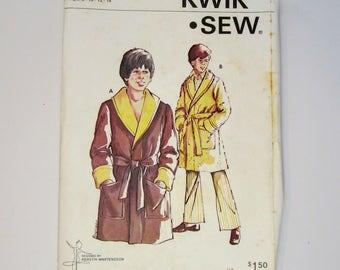 Kwik Sew 643 Boys Robe Sewing Pattern Sizes 8 - 14 Uncut