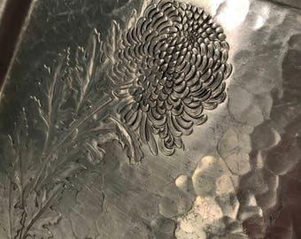 Vintage aluminum dandelion tray