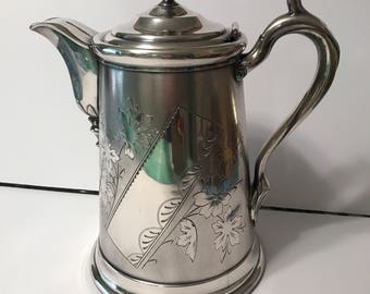 Pretty vintage silver plated coffee pot