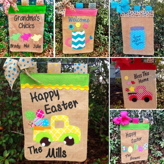 Easter Garden Flag Personalized Easter Flags Easter Truck