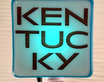 Kentucky Night Light Fused Glass