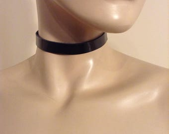 Black Patent Leather Choker