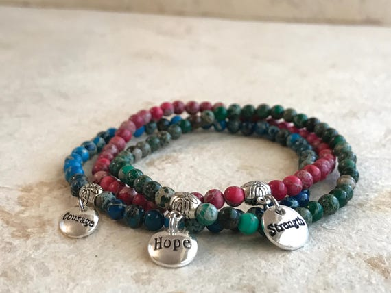 Hope, Courage & Strength Trio Bracelet.