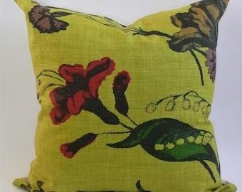Christopher Farr Cloth Flower Show Pillow Cover