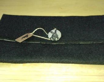 Black Mohair Clutch Bag