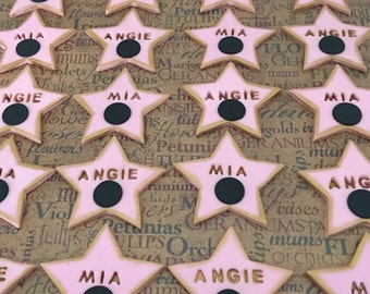 12 fondant Hollywood stars
