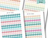 Book Stack Circle Icons PRINTABLE Color Love Collection Planner Stickers -Instant Download
