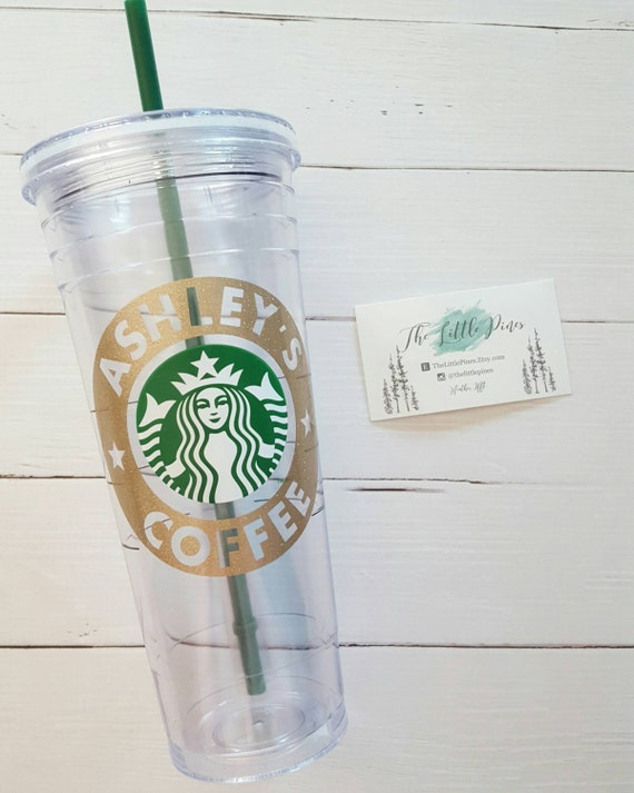 Personalized starbucks tumbler cup bridesmaid gift cold cup for Starbucks personalized tumbler template