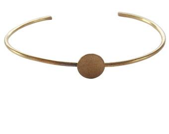 Dot Brass Cuff; Circle Brass Cuff; Shape Brass Cuff; Sterling Silver Cuff; Brass Bracelet; Brass Bangle; Geometric Cuff; Geometric Jewelry