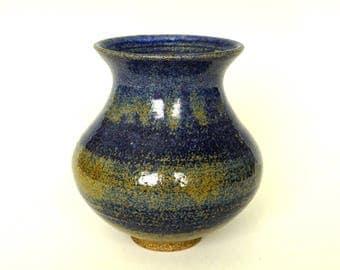 Blue vase, ceramic vase, flower vase, blue flower vase, handmade, stoneware