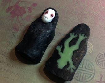 Spirited Away No Face with Frog