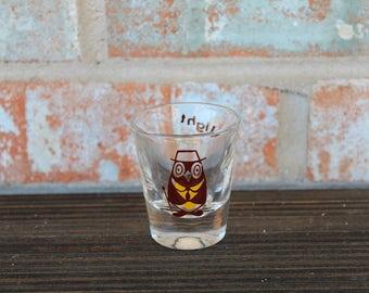 Vintage Night Owl Shot Glass