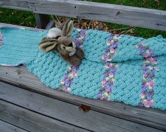 Child Mermaid Merman Tail Sack Blanket Warm child's blanket