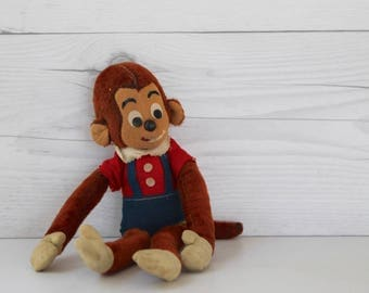 Vintage Dakin Dream Pets - Monkey Plush Animal, Vintage Stuffed Animal Monkey