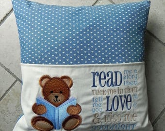 Child's Cushion with Reading Book  Pocket