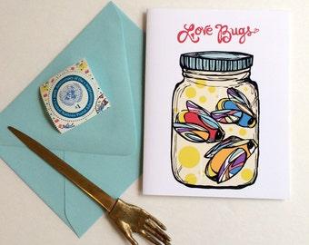 Love Bugs Greeting Card