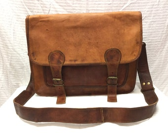 Brown Leather Messenger Bag, Briefcase, Shoulder Bag,lap top bag