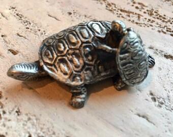 Pewter Turtle,baby turtle , pewter,figurine