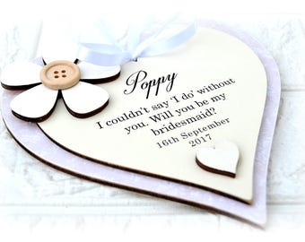 Will You Be My Bridesmaid Heart Plaque