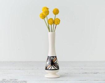 Vintage Bud Vase - Hawaiian Vase - Boho Decor - Small Vase - Narrow Vase