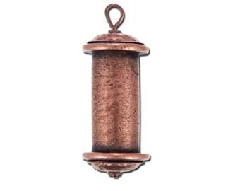 Channel Pendant - Large - Antique Copper