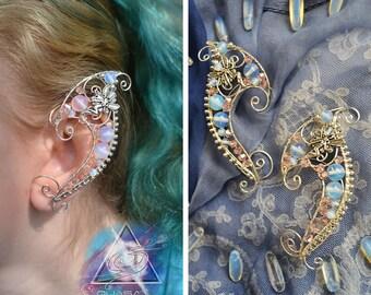 "Elven ear cuffs ""Fairy tales"" / elvish, elven ears, elf ear cuffs, fairy cuff, LOTR, magic fantasy jewelry, wire ear cuffs, elven wedding"