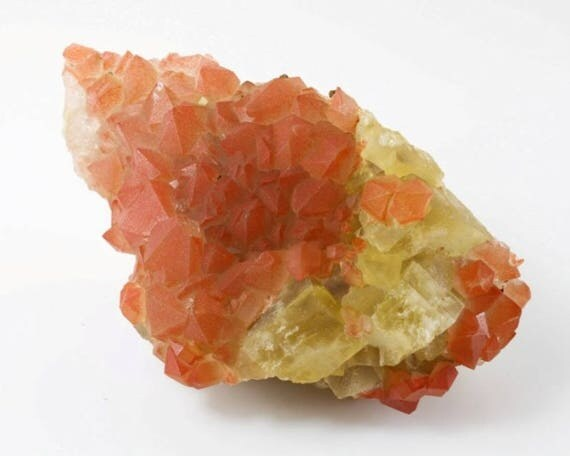 Orange and Yellow Fluorite Cluster, M-1001