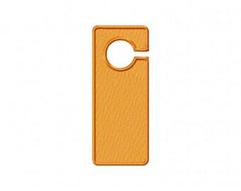 Golden Yellow Door Hanger Machine Embroidery Design