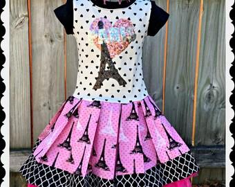 girls PARIS dress 4 5/6 6/6X ready to ship