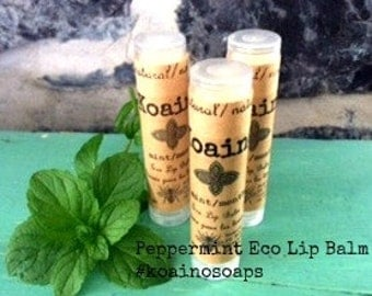 Peppermint eco lip balm