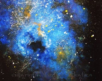 ORIGINAL ACRYLIC PAINTING; abstract, 12 x 16 inches, wrapped canvas, no frame needed, Canadian art, wall art, cosmos,