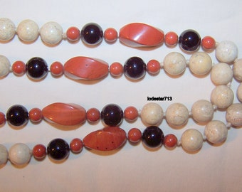 Red Jasper Bead Necklace Jasper Necklace Natural Stone