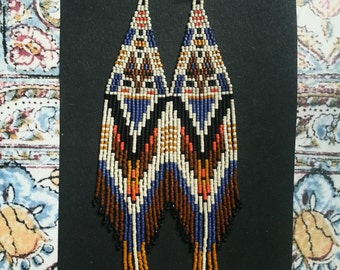La Boheme..Beaded Fringe Earrings
