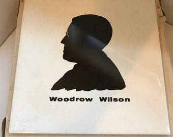 Vintage Woodrow Wilson Souvenir Tile From Woodrow Wilson's Birthplace in Original Gift Box