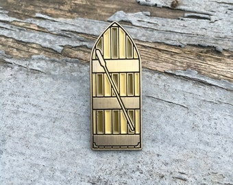 Enamel Rowboat Lapel Pin