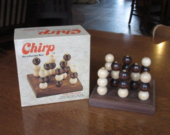 Vintage 1972 Chirp, Rare Collectible First Edition Wooden Game, Beads and Board,Nostalgic Toys,Game Geeks Gift,Collectors,Vintage Rare Games