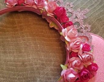 Pink minnie mouse headband. Minnie mouse ears headband. Minnie mouse crown