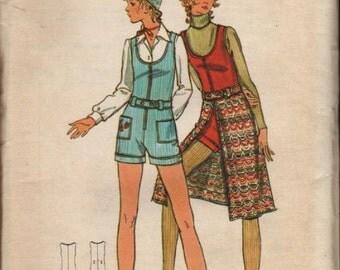 Butterick Vintage Pattern 6278 Junior Jumpsuit and Skirt UNCUT Size 9