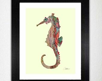 Seahorse Wall Decor seahorse wall art | etsy