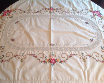 Hand embroidered Tablecloth from Norway